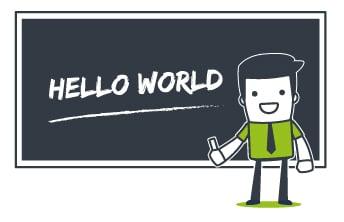 Mascotte Hello World